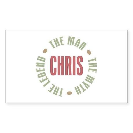 Chris Man Myth Legend Rectangle Sticker