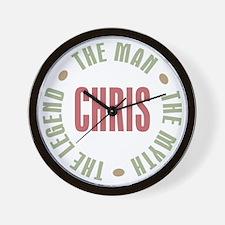 Chris Man Myth Legend Wall Clock
