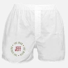 Jeff Man Myth Legend Boxer Shorts