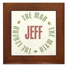 Jeff Man Myth Legend Framed Tile