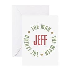 Jeff Man Myth Legend Greeting Card
