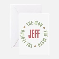 Jeff Man Myth Legend Greeting Card