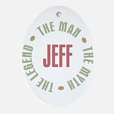 Jeff Man Myth Legend Oval Ornament