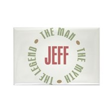 Jeff Man Myth Legend Rectangle Magnet