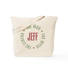 Jeff Man Myth Legend Tote Bag