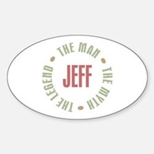 Jeff Man Myth Legend Oval Decal