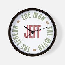 Jeff Man Myth Legend Wall Clock