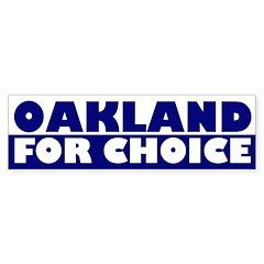Oakland for Choice (bumper sticker)