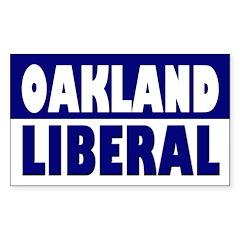 Oakland Liberal Bumper Decal