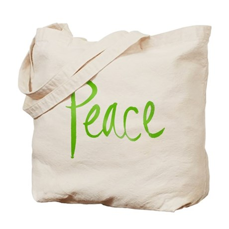 Recycle and Peace Tote Bag