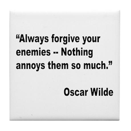 Wilde Annoy Enemies Quote Tile Coaster