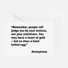 Judge Actions Quote Greeting Cards (Pk of 20)