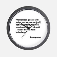Judge Actions Quote Wall Clock