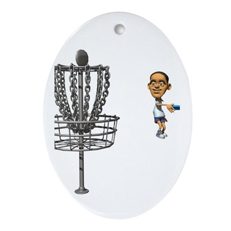 Disc golf Oval Ornament