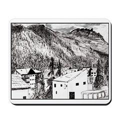Swiss Alpine Town Mousepad