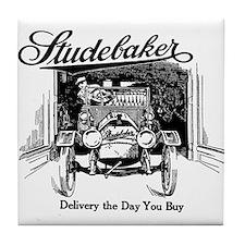 1912 Studebaker advertisement Tile Coaster