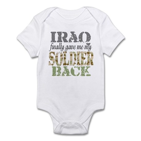 Soldier Back Iraq Infant Bodysuit