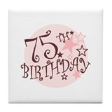 75th birthday gifts Drink Coasters