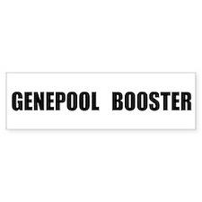 """""""Genepool Booster"""" Bumper Bumper Sticker"""