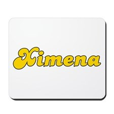 Retro Ximena (Gold) Mousepad