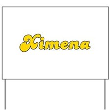 Retro Ximena (Gold) Yard Sign