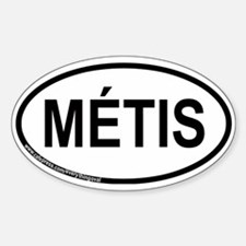 Metis Oval Decal