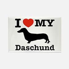 I love my Daschund Rectangle Magnet