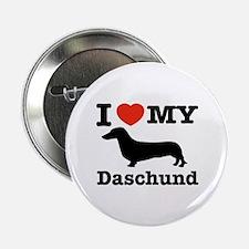 """I love my Daschund 2.25"""" Button"""