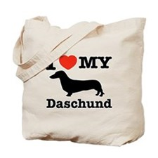 I love my Daschund Tote Bag