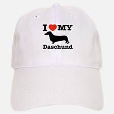 I love my Daschund Baseball Baseball Cap