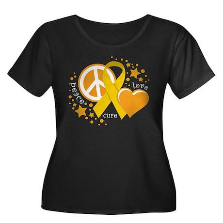 CC Peace Love Cure Women's Plus Size Scoop Neck Da