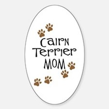Cairn Terrier Mom Oval Decal