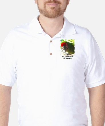 Can You Fly Military Macaw Golf Shirt
