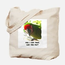 Can You Fly Military Macaw Tote Bag