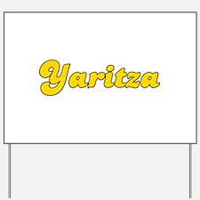 Retro Yaritza (Gold) Yard Sign