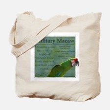 PW Military Macaw Tote Bag