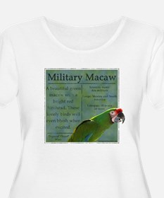 PW Military Macaw Women's Plus Size Scoop Neck Tee