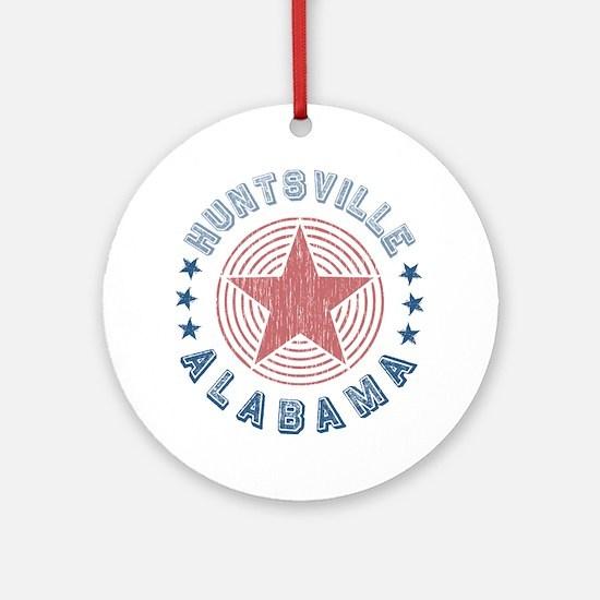 Huntsville, Alabama Souvenir Ornament (Round)