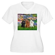 Lilies #2/3 Poodles (TM) T-Shirt