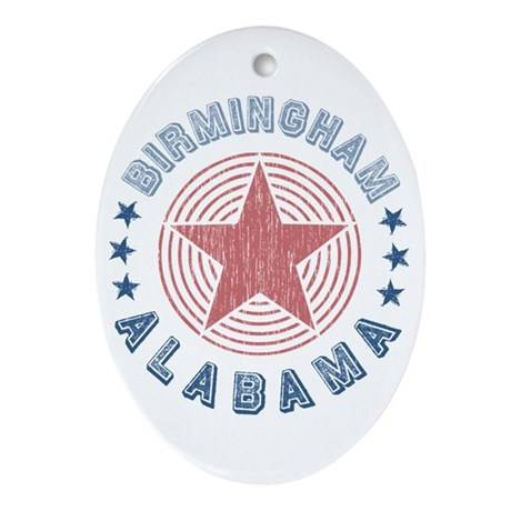 Birmingham Alabama Souvenir Oval Ornament