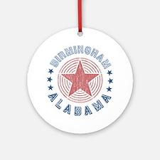 Birmingham Alabama Souvenir Ornament (Round)