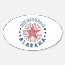 Birmingham Alabama Souvenir Oval Decal