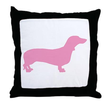 Pink Dachshund Throw Pillow