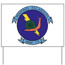 VAW 78 Fighting Escargots Yard Sign