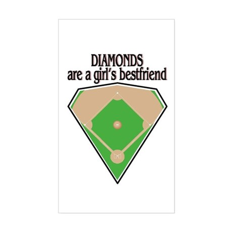 Diamond Field Rectangle Sticker
