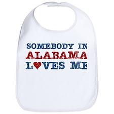 Somebody in Alabama Loves Me Bib