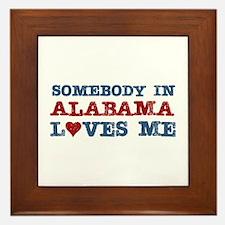 Somebody in Alabama Loves Me Framed Tile