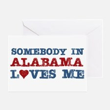 Somebody in Alabama Loves Me Greeting Card