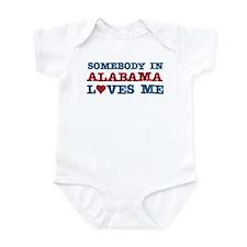 Somebody in Alabama Loves Me Infant Bodysuit