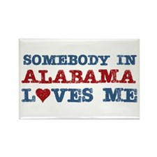 Somebody in Alabama Loves Me Rectangle Magnet (100